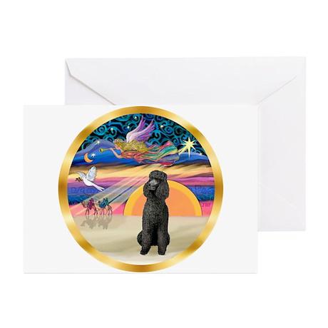 XmasStar/Poodle Std Greeting Cards (Pk of 20)