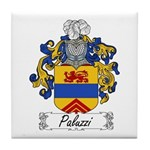 Paluzzi Family Crest Tile Coaster