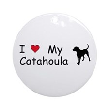 I Love My Catahoula Ornament (Round)