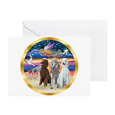 XmasStar/3 Poodles Std Greeting Cards (Pk of 20)