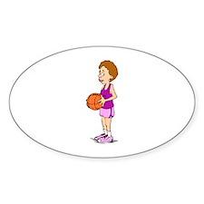 Basketball Player Oval Decal