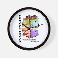 Hurricane Katrina #2 Wall Clock