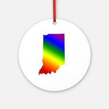 Indiana Gay Pride Ornament (Round)
