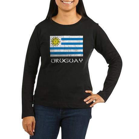 Uruguay Flag Women's Long Sleeve Dark T-Shirt