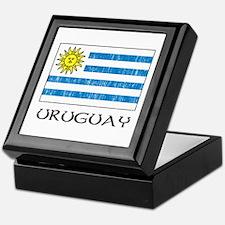 Uruguay Flag Keepsake Box