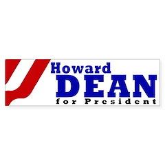 Howard Dean (Bumper Sticker)