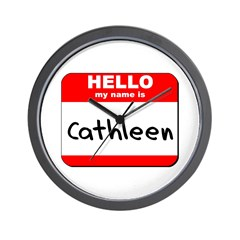 Hello my name is Cathleen Wall Clock