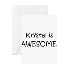 Funny Krystal Greeting Card