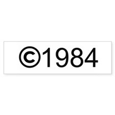 Copyright 1984 Bumper Bumper Sticker
