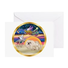 XmasStar/Pekingese (w) Greeting Card