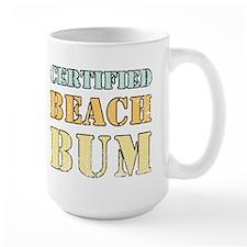 Certified Beach Bum Ceramic Mugs