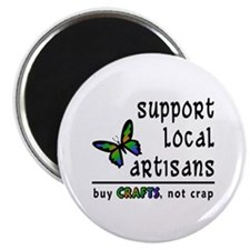 "Buy Crafts, Not Crap! 2.25"" Magnet (100 pack)"