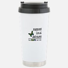 Buy Crafts, Not Crap! Stainless Steel Travel Mug