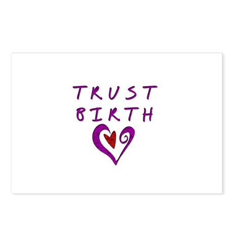Trust Birth Postcards (Package of 8)