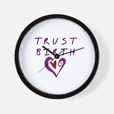 Trust Birth Wall Clock