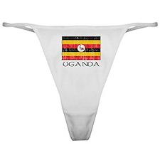 Uganda Flag Classic Thong