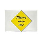 Slippery When Wet Sign 2 - Rectangle Magnet (100 p