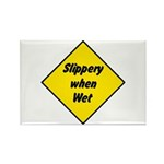 Slippery When Wet Sign 2 - Rectangle Magnet (10 pa
