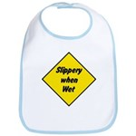 Slippery When Wet Sign 2 - Bib