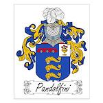 Pandolfini Family Crest Small Poster