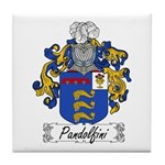Pandolfini Family Crest Tile Coaster