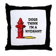 GO AWAY DOGGIE Throw Pillow