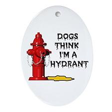 GO AWAY DOGGIE Oval Ornament