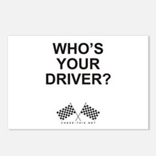 Checker Flag Driver Postcards (Package of 8)