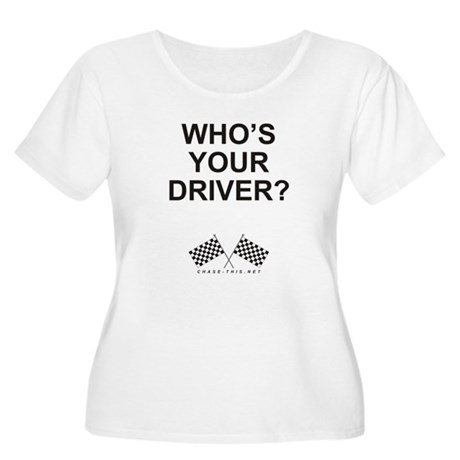 Checker Flag Driver Women's Plus Size Scoop Neck