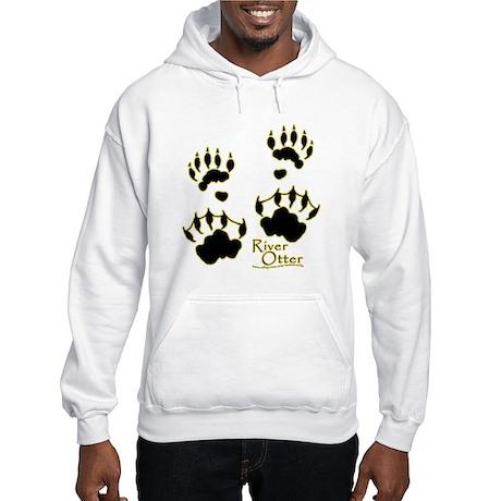 River Otter Tracks Hooded Sweatshirt