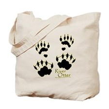 River Otter Tracks Tote Bag