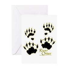 River Otter Tracks Greeting Card