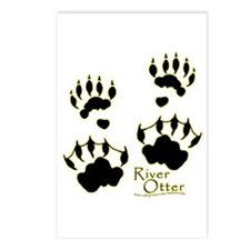River Otter Tracks Postcards (Package of 8)