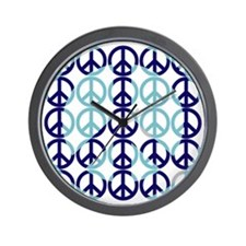Retro Blue Peace Wall Clock