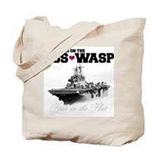 USS Wasp (Heart) Tote Bag