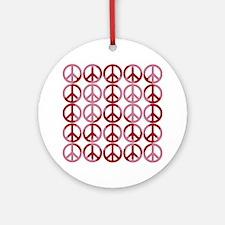 Retro Pink Peace Ornament (Round)