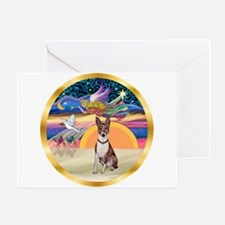 XmasStar/Basenji (brin) Greeting Card