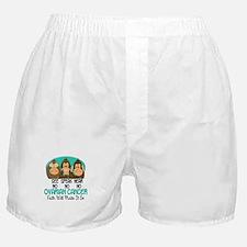 See Speak Hear No Ovarian Cancer 1 Boxer Shorts