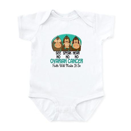 See Speak Hear No Ovarian Cancer 1 Infant Bodysuit