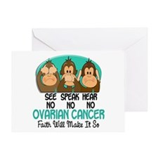 See Speak Hear No Ovarian Cancer 1 Greeting Card
