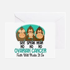See Speak Hear No Ovarian Cancer 1 Greeting Card