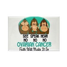 See Speak Hear No Ovarian Cancer 1 Rectangle Magne