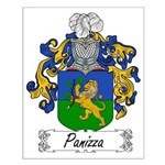 Panizza Family Crest Small Poster