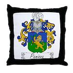 Panizza Family Crest Throw Pillow