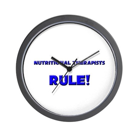 Nutritional Therapists Rule! Wall Clock