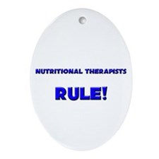 Nutritional Therapists Rule! Oval Ornament