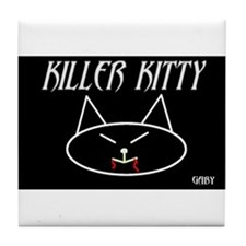 Funny Angel kitty Tile Coaster