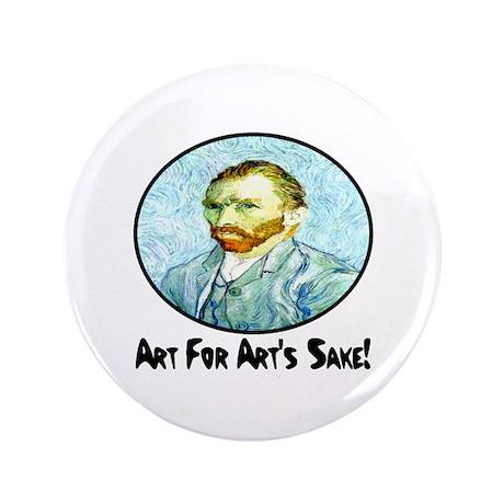 """Van Gogh Art For Art's Sake 3.5"""" Button (100 pack)"""