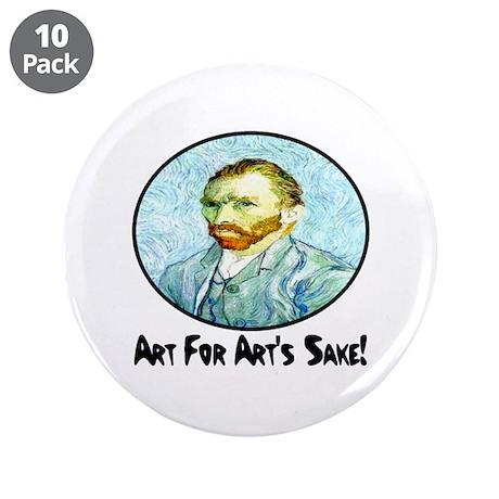 """Van Gogh Art For Art's Sake 3.5"""" Button (10 pack)"""