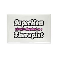 """SuperMom...Therapist"" Rectangle Magnet"